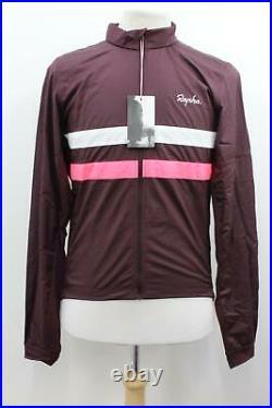 RAPHA Men's Burgundy Red Windblock Long Sleeve Brevet Cycling Jersey XXL BNWT