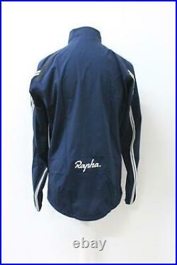 RAPHA Men's Classic Navy Blue Long Sleeve Lightweight Cycling Wind Jacket XL