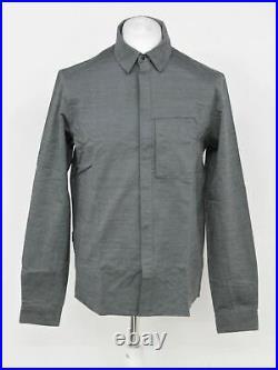 RAPHA Men's Dark Grey Merino Wool Blend Long Sleeve Collared Oxford Shirt M BNWT