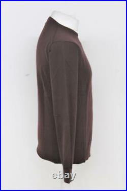 RAPHA Men's Fudge Brown Long Sleeve Crew Neck Knitted Cycling Jumper M BNWT