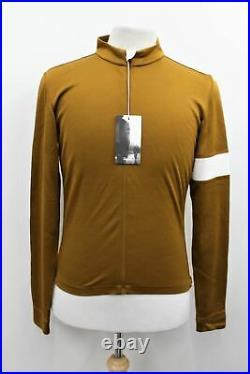 RAPHA Men's Gold Wool Blend Long Sleeve Zip-Up Cycling Classic Jersey II L BNWT
