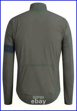 RAPHA Men's Green Lightweight Pro Team Long Sleeves Hardshell Jacket XS BNWT