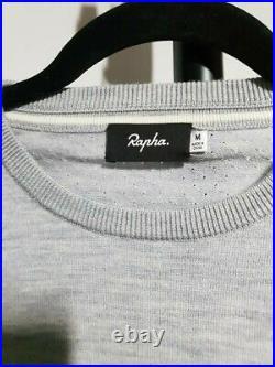 RAPHA Men's Grey Crew Neck Knitted Long Sleeve Hi-Vis Cycling Jumper M Medium