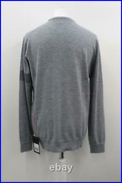 RAPHA Men's Grey Crew Neck Knitted Long Sleeve Hi-Vis Cycling Jumper XL BNWT