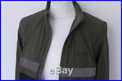 RAPHA Men's Jersey Brevet Long Sleeve Windblocking Zipper Top Green Small BNWT