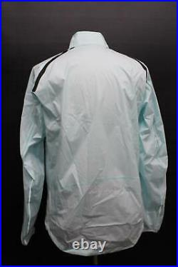 RAPHA Men's Light Blue Long Sleeve Collared Cycling Classic Wind Jacket XXL NEW