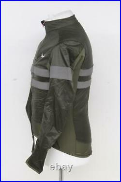 RAPHA Men's Olive Green Long Sleeve Brevet Insulated Cycling Jacket S BNWT