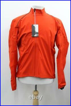 RAPHA Men's Orange Long Sleeves Hardshell Zip-Up Cycling Jacket XXL BNWT