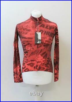 RAPHA Men's Pink Graffiti Pro Team Long Sleeve Thermal Cycling Jersey M BNWT