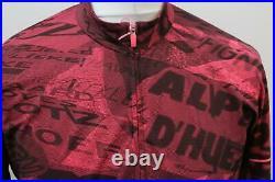 RAPHA Men's Pink Long Sleeve Graffiti Print Pro Team Thermal Jersey XXL BNWT