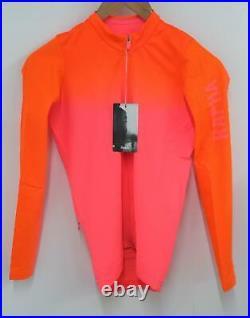 RAPHA Men's Pink Orange Pro Team Aero Long Sleeve Cycling Jersey Size S BNWT