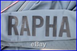 RAPHA Men's Pro Team Aero Long Sleeve GYB Grey Blue Cycling Jersey Size S NEW