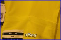 RAPHA Men's Pro Team Bib Shorts Long II Black & Yellow Chamois Small BNWT