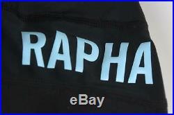 RAPHA Men's Pro Team Black/White Lightweight Cycling Bib Shorts Long Large BNWT