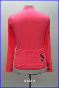 RAPHA Men's Pro Team High-Vis Pink Long Sleeve Midweight Cycling Jersey M NEW