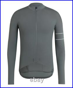 RAPHA Men's Pro Team Long Sleeve Thermal Jersey, Green-Grey, Size X-Large