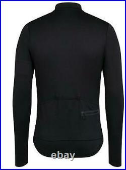 RAPHA Men's True Black Classic Long Sleeve Cycling Zip Jersey Top Size XL NEW