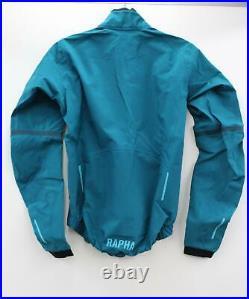 RAPHA Men's Turquoise Lightweight Pro Team Long Sleeve Cycling Race Cape XS BNWT