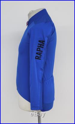 RAPHA Men's Ultramarine Blue Pro Team Long Sleeve Aero Cycling Jersey L BNWT