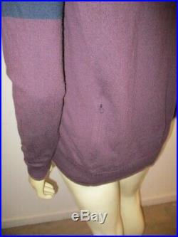 RAPHA Men's Wool Long Sleeve CREW NECK KNIT Sweater Purple Size LARGE