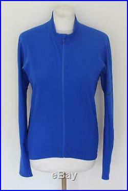 RAPHA Mens Jersey Thermal Pro Team Long Sleeve Royal Blue Zip Top Medium BNWT