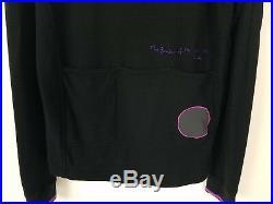 RAPHA PAUL SMITH Cycling Long Sleeve Jersey Men's 100% Merino Wool Black Pink L