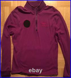 RAPHA PAUL SMITH Cycling Long Sleeve Jersey Mens 100% Merino Purple Pink Large L