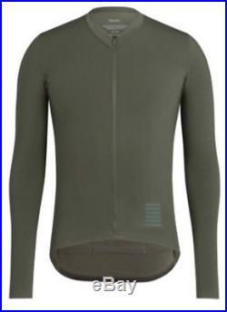 RAPHA Pro Team Aero Jersey Long Sleeve Dark Green Large