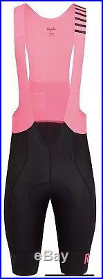 RAPHA Pro Team II Men's Bib Shorts M LONG BNWT RRP £200 black pink 2