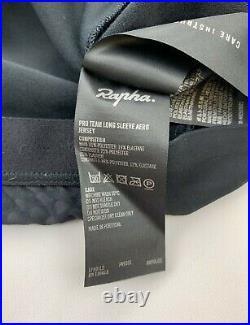 RAPHA Pro Team Long Sleeve Aero Jersey Black Size Large New