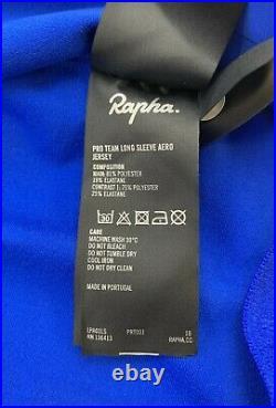 RAPHA Pro Team Long Sleeve Aero Jersey Blue Size Large New