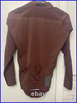 RAPHA Pro Team Long Sleeve Aero Jersey Mens Small Brown