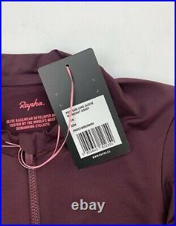 RAPHA Pro Team Long Sleeve Midweight Jersey Burgundy Size XS New