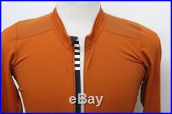 RAPHA Pro Team Mens Long Sleeve Aero Jersey Cycling Burnt Orange Large BNWT