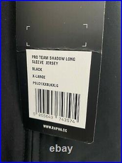 RAPHA Pro Team Shadow Long Sleeve Jersey Black (Sz XL) BNWT Maap Rare RRP £250