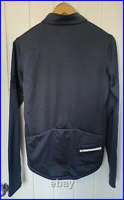 RARE Rapha MARCO PANTANI Classic Long Sleeve Jersey Grey/Blue Sportswool Size L