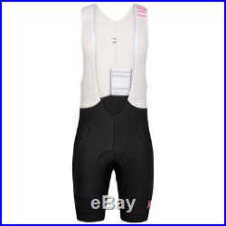 Rapha Black/Pink Pro Team Lightweight Bib Shorts Long. Size Small. BNWT