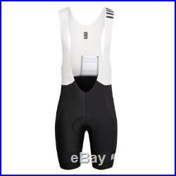 Rapha Black/White Pro Team Lightweight Bib Shorts Long. Size Large. BNWT