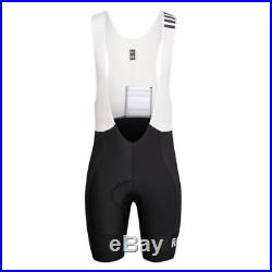 Rapha Black/White Pro Team Lightweight Bib Shorts Long. Size XL. BNWT