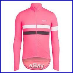 Rapha Brevet Cycling Jersey Long Sleeve Hi-Vis Pink Size Medium BNWT