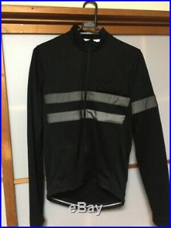 Rapha Brevet Hi Viz Long Sleeve Black Cycling Jersey Sz XL BNWOT Super Rare