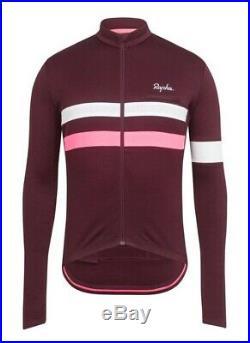 Rapha Brevet Long Sleeve Jersey Burgundy BNWT Size L