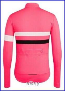 Rapha Brevet Long Sleeve Jersey Hi-Viz Pink BNWT Size M
