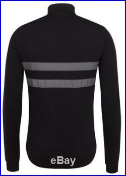 Rapha Brevet Long Sleeve Windblock Jersey Black Large BNWT