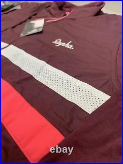 Rapha Brevet Long Sleeve Windblock Jersey Burgundy XXL Brand New With Tag