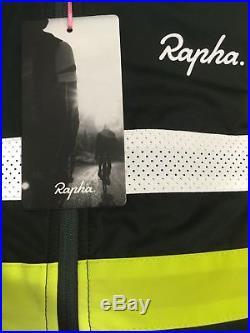 Rapha Brevet Long Sleeve Windblock Jersey Dark Green/Grey Medium BNWT