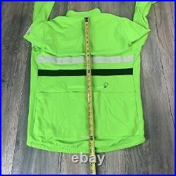 Rapha Brevet Long sleeve Windblock jersey Jacket Mens 2XL XXL Bright Green