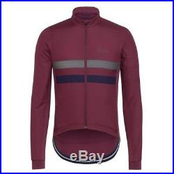 Rapha Burgundy Long Sleeve Brevet Windblock Jersey. Size XS. BNWT