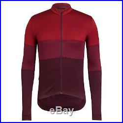 Rapha Burgundy Long Sleeve Tricolour Jersey. Size Large. BNWT