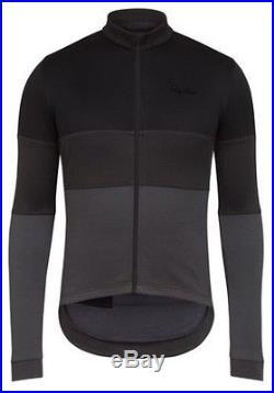 Rapha Classic Long Sleeve Tricolour Jersey Black BNWT Size M